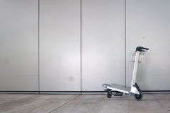 Airport luggage cart Royalty Free Stock Image