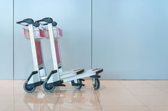 Airport luggage cart Royalty Free Stock Photos