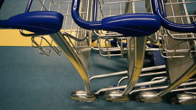 Airport luggage cart,  luggage,  luggage trolley stock video footage