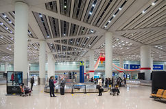 Airport luggage claim area in Beijing Stock Image
