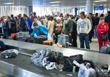 Airport luggage claim area, Pulkovo, St. Petersburg Royalty Free Stock Photo