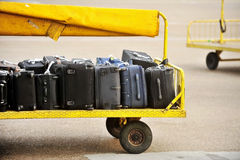 Airport luggage transportation Royalty Free Stock Photo