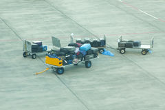 Airport Luggage Trolley Stock Images
