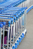 Airport luggage trolleys Stock Image