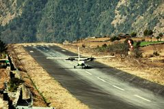 Airport in Lukla Royalty Free Stock Photography