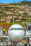 Airport Madeira - Airbus A320 Royalty Free Stock Photo