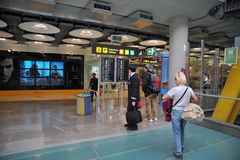 Airport Madrid-Barajas Stock Photo