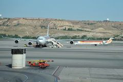 Airport Madrid-Barajas Royalty Free Stock Photography
