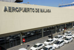 Airport of Malaga in Spain Stock Photos