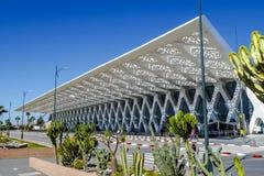 Airport of Marrakesh Menara in Morocco. Marrakesh, Morocco - March 4, 2017: Exterior of the airport of Marrakesh Menara in Morocco. The airport served over 4 Stock Photos