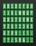 Airport Mechanical Flip Board Panel Font Stock Image