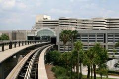 Airport mono rail tracks Royalty Free Stock Image