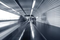 Airport moving escalator Royalty Free Stock Photos