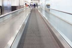 Airport moving walkway Royalty Free Stock Photography