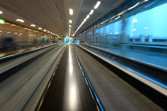Airport moving walkway Royalty Free Stock Image