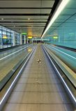 Airport moving walkway Stock Photography