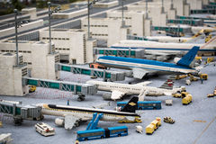 Airport of munich build in Lego atmosphere Stock Photography