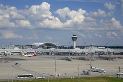Munich Airport, Bavaria, Germany. Airport Munich II, Franz-Josef-Strauss, Erding, Bavaria, Germany, Europe stock photos