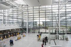 Airport Munich departure hall Royalty Free Stock Photography