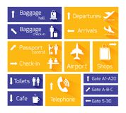 Airport Navigation Infographic Design Elements. Airport business navigation infographic design elements with arrows and flight arrival departure symbols vector Royalty Free Stock Image