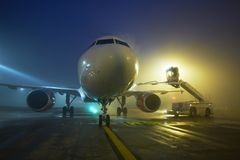 Airport at the night Stock Photography