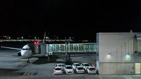 Airport at night Royalty Free Stock Images