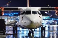 Airport at night Royalty Free Stock Photo