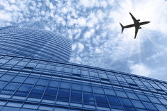 The airport outside buildings Stock Photos