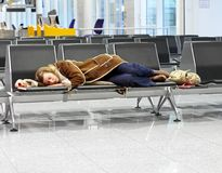 Airport overnight Royalty Free Stock Photos