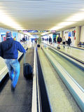 Airport of Palma de Mallorca, busy People. Getting their flight Royalty Free Stock Photos