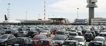 Airport parking Stock Photos
