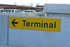 Airport Parking Sign Royalty Free Stock Photo