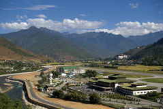 Airport, Paro, Bhutan Stock Photos