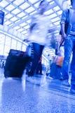 Airport Passenger. Passengers walk at the Beijing International Airport Stock Images