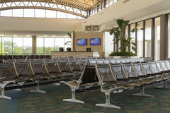 Airport Passenger Gate Area Royalty Free Stock Photos