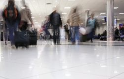 Airport people. Movement theme - people travelling royalty free stock photos