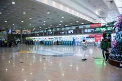 Airport with people Royalty Free Stock Images