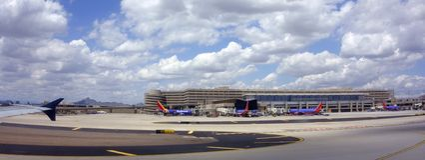 Airport in Phoenix, AZ Royalty Free Stock Photo