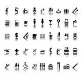 Airport pictograms set Stock Photo