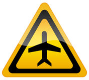 Airport plane sign Royalty Free Stock Photo