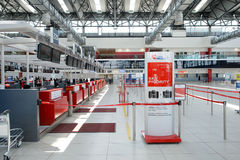 Airport of Prague interior Stock Photo
