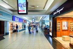Airport of Prague interior Stock Photo