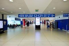 Airport of Prague interior. PRAGUE, CZECH REPUBLIC - AUGUST 04, 2015: airport of Prague interior. International airport of Prague is major airport of Czech Royalty Free Stock Images