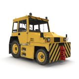 Airport Push Back Tractor Hallam HE50. 3D illustration Royalty Free Stock Photos