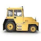 Airport Push Back Tractor Hallam HE50. 3D illustration Royalty Free Stock Images