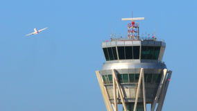 Airport Radar Control Tower Stock Photo