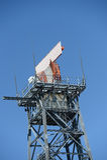 Airport radar tower Stock Photo
