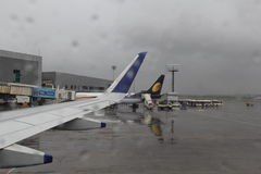 Airport in Rains Stock Photography