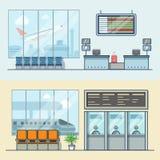 Airport registration reception desk railway train Stock Photos