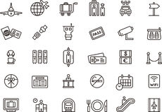 Airport related icons Stock Photography